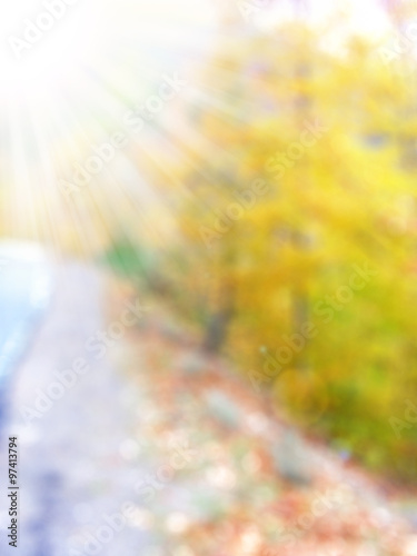 Cadres-photo bureau Melon Autumn road forest,abstract blur background for web design,colorful, blurred, wallpaper,illustration