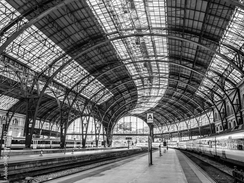 Spoed Foto op Canvas Treinstation France Station, Barcelona