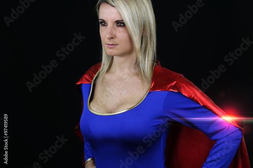 Cuadros en Lienzo sexy supergirl posing