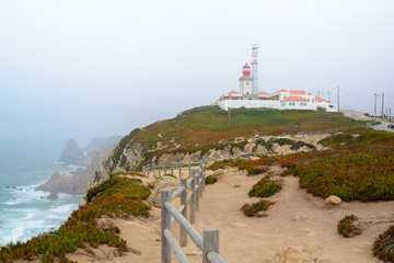 Fototapeta na wymiar Cape rock is the endpoint of Portugal