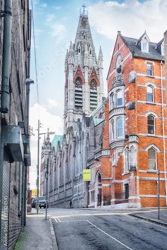 Fototapeta premium historyczne centrum Dublina, John's Lane Church