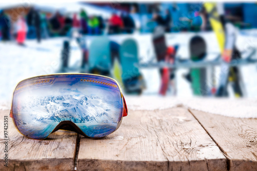 Poster Wintersporten winter sport and holiday concept
