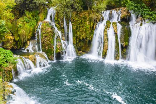 Foto op Canvas Watervallen Waterfalls of Martin Brod on Una national park, Bosnia and Herzegovina