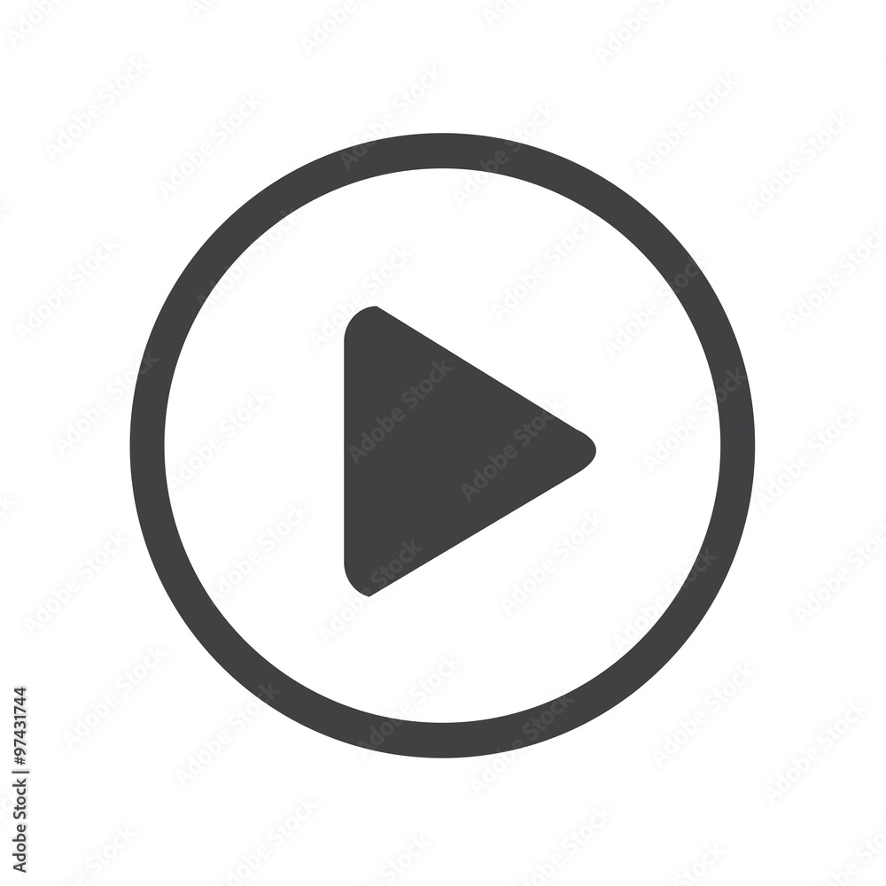 Fototapety, obrazy: play button icon design Illustration