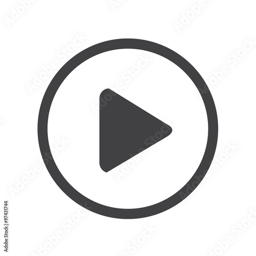 Valokuva  play button icon design Illustration