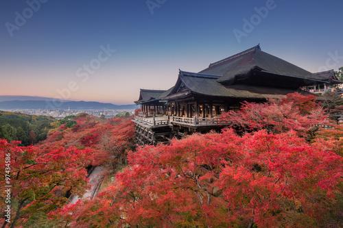 Poster Kyoto 秋の清水寺