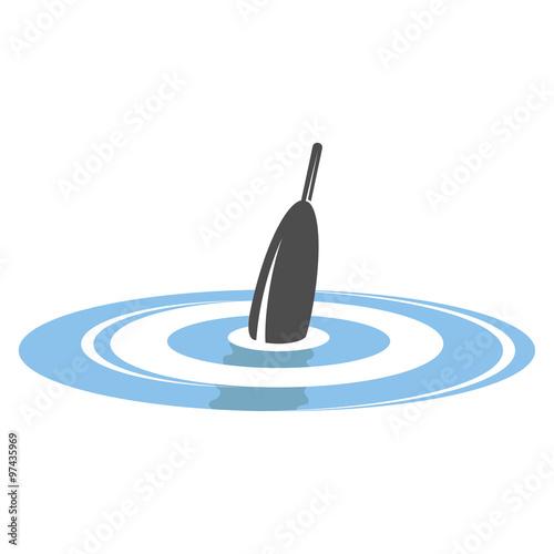 Fotografie, Obraz  Bobber in water