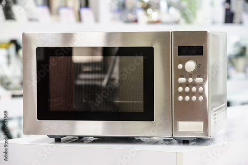 microwave oven in retail store