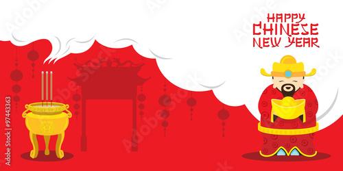 Valokuva  Chinese New Year, Sacrifice Caishen God of Wealth, Traditional Celebration, Chin