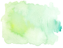 Plain Green Tones Watercolor T...