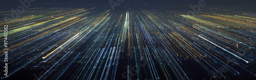 Abstract Light City Speed Motion Wallpaper Mural