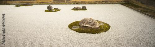 Acrylic Prints Stones in Sand Stone garden1