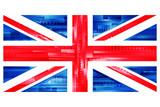 Fototapeta Fototapeta Londyn - brytyjska flaga wektor