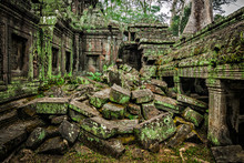Ancient Ruins Of Ta Prohm Temp...