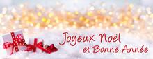 Joyeux Noel Et Bonne Annee, Weihnachtskarte, Französisch