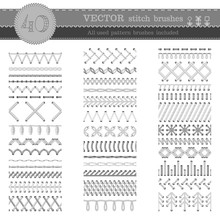 Vector Set Of White Seamless S...