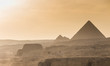 Egypt. Cairo - Giza. General view of pyramids from the Giza Plat
