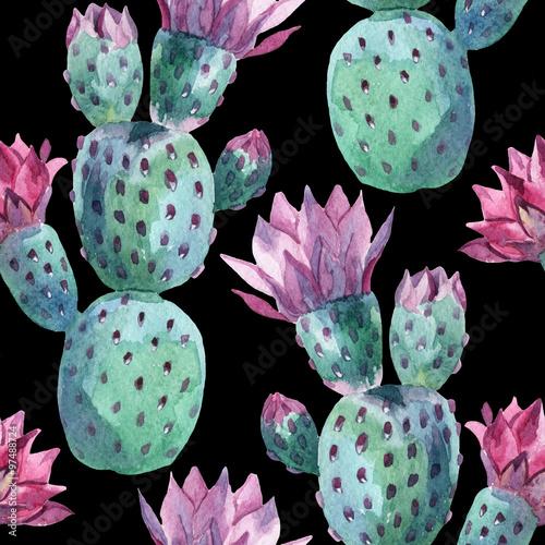 akwarela-bezszwowe-kaktus-wzor