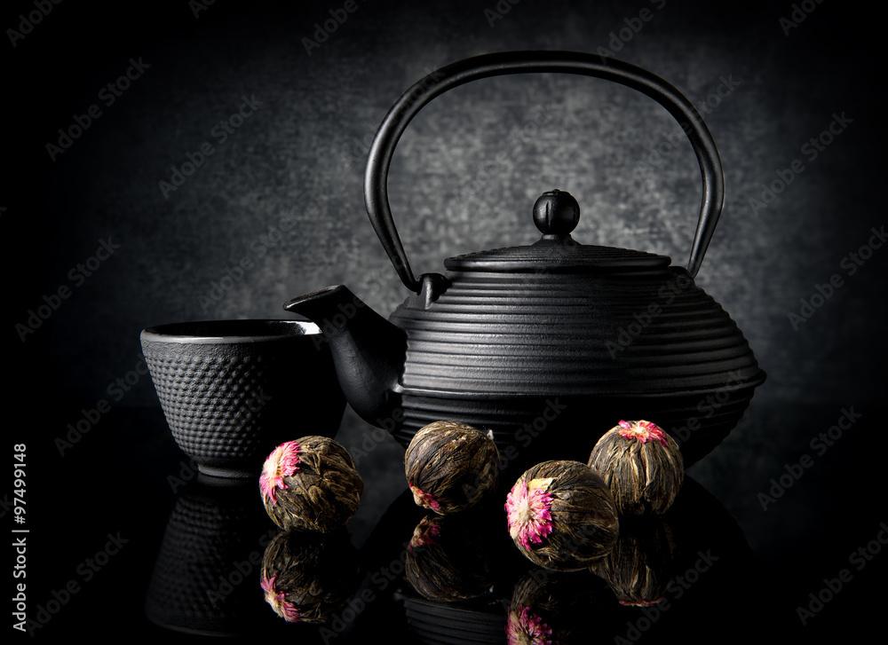 Photo  Tea utensil and buds