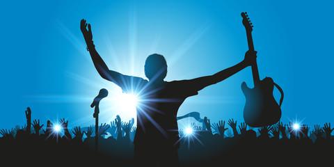 fototapeta światła na koncercie rockowym