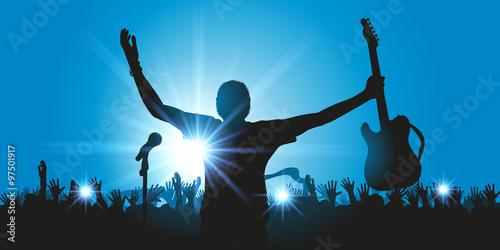 Obraz na płótnie Rock Koncertowy