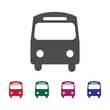 Land Transportation Icon With Five Colors Options