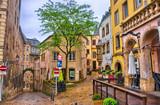 Fototapeta Uliczki - LUXEMBOURG CITY - JUN 2013: Narrow medieval street w
