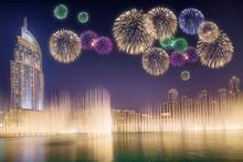 Beautiful Fireworks Above Danc...