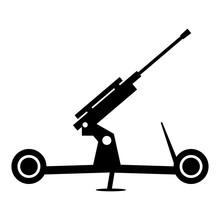 Howitzer Artillery Simple Icon