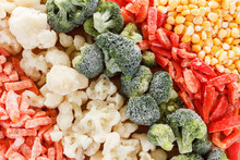 Mixed Frozen Vegetables Background