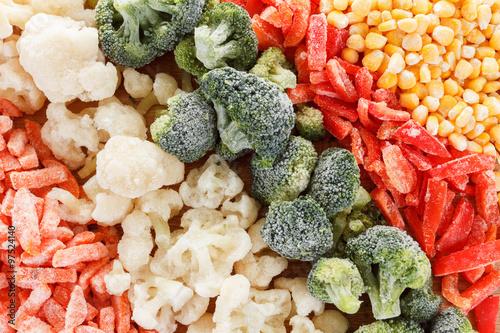 Obraz na plátně Mixed frozen vegetables background