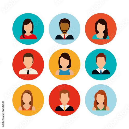 Fotografía  People profile graphic