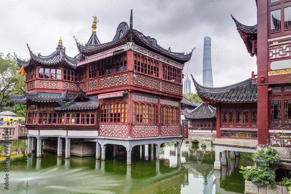 Photo  Yu Yuan Garden and Bazaar on Jin Jiao Road area in  Shanghai