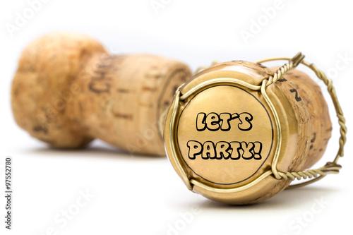 Let´s Party goldener Champagnerkorken