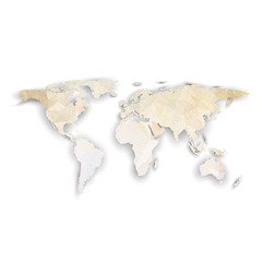 Fototapeta World map with shadow, textured design vector illustration