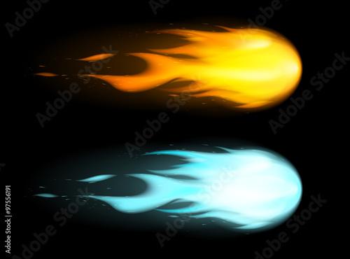 Boules de feu vectorielles 1 Canvas Print