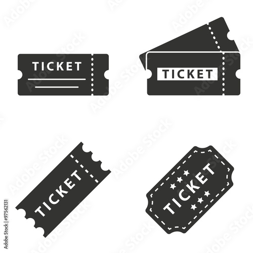Fotomural  Ticket  icons set.