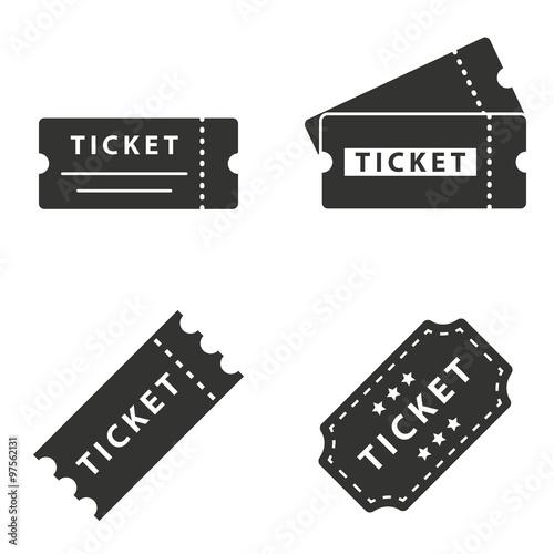 Pinturas sobre lienzo  Ticket  icons set.