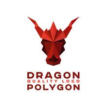Head Polygon Dragon Origami Vector Logo Professional Quality Excellent
