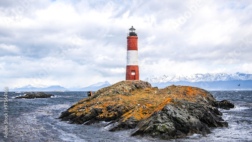 Tuinposter Vuurtoren The Les Eclaireurs lighthouse