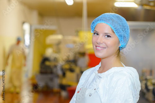 Photo  woman factory worker