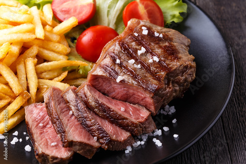 Fotoposter Steakhouse New York steak with french fries