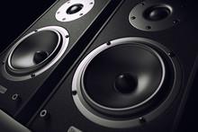 Sound Speakers Close-up. Audio...
