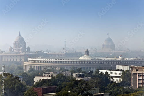 Cadres-photo bureau Delhi India. A view of Delhi in morning fog...
