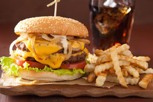 Double Cheeseburger With Tomat...