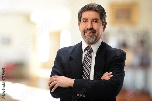 Fotografie, Obraz  Mature Hispanic Businessman