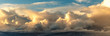 Leinwandbild Motiv Sunset on blue sky