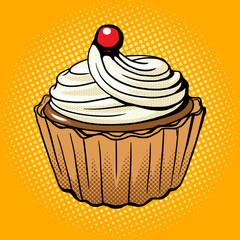 Fototapeta Popart Cake pop art style vector