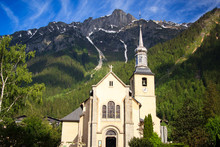 Church In Chamonix Town, France