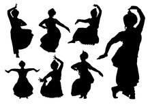 Indian Dancers Silhouettes